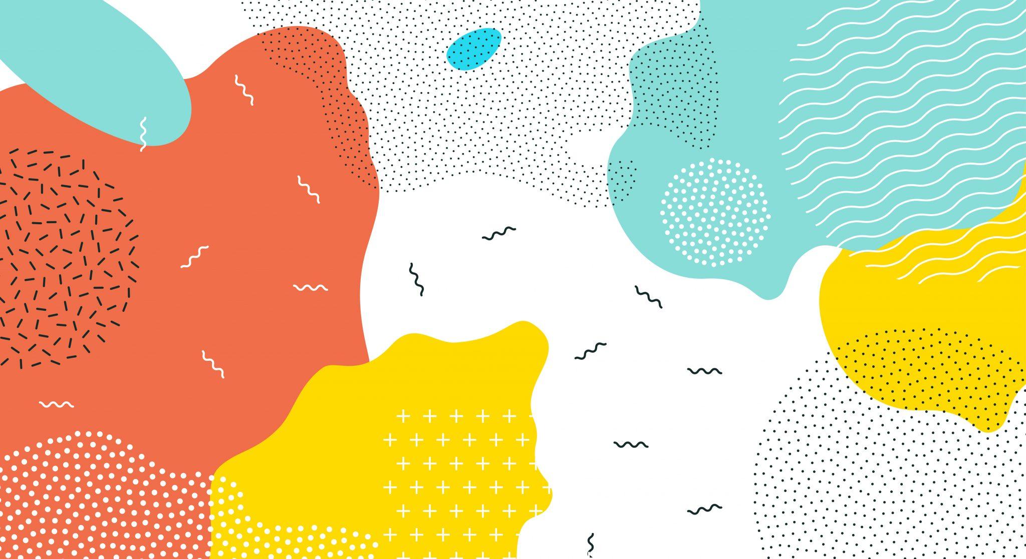 Plusieurs motifs se combinent pour former une seule œuvre d'art.